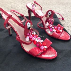 Brand New Kate Spade Coral Jewel Sandals